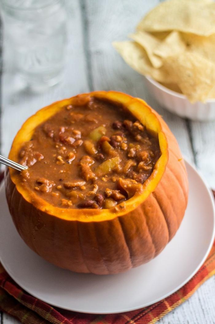 calabaza al horno rellena de cocido, ideas de recetas fáciles y rápidas para hacer en la estación del otoño