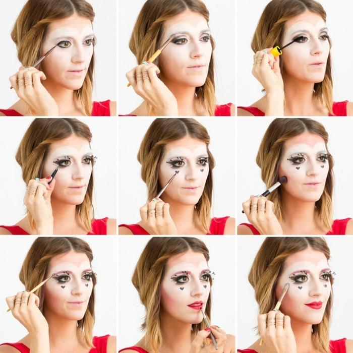 maquillaje bruja halloween paso a paso, como conseguir el look de la bruja roja de Alicia paso a paso