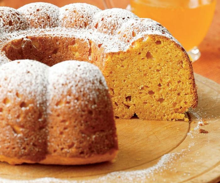 como hacer pure de calabaza para postres y tartas, tarta de valabaza esponjosa con azúcar espolvoreada