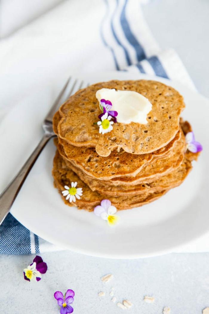 como hacer tortitas americanas paso a paso, recetas de postres y desayunos con avena rápidos y fáciles