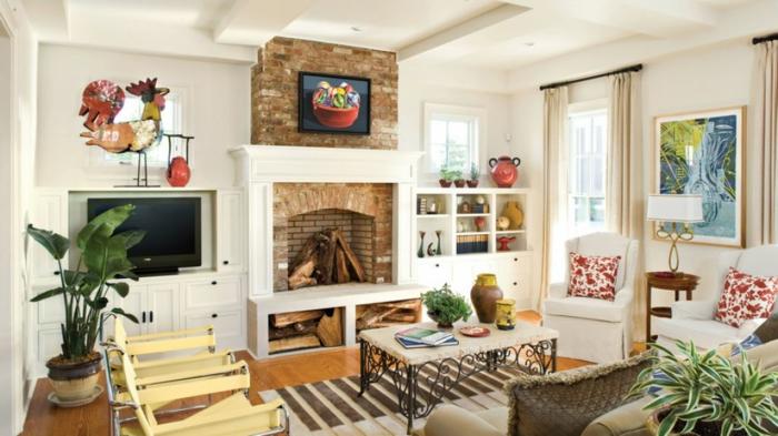salones con chimeneas rusticas de leña, precioso espacio decorado en tonos claros, suelo de parquet