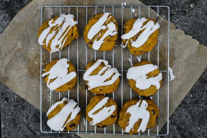 galetas originales con chispas de chocolate y calabaza, recetas creativa de comidas con calabaza dulces y saladas