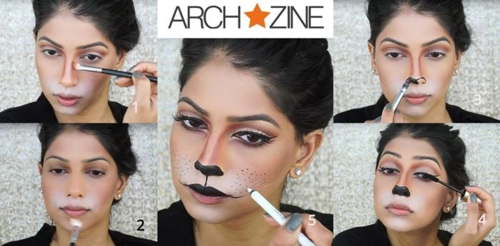 pintacaras halloween ideas fáciules con tutoriales, como conseguir un look atractivo con maquillaje hecho en casa