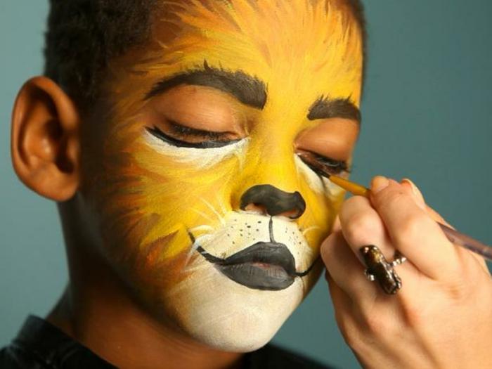 tutoriales de maquillaje para Halloween fácil y rápido, ideas para los pequeños, maquillaje halloween facil