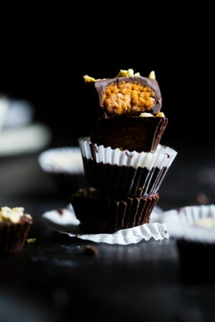 buñuelos de chocolate y calabaza, preciosas ideas de recetas de postres para sorprender a tu familia