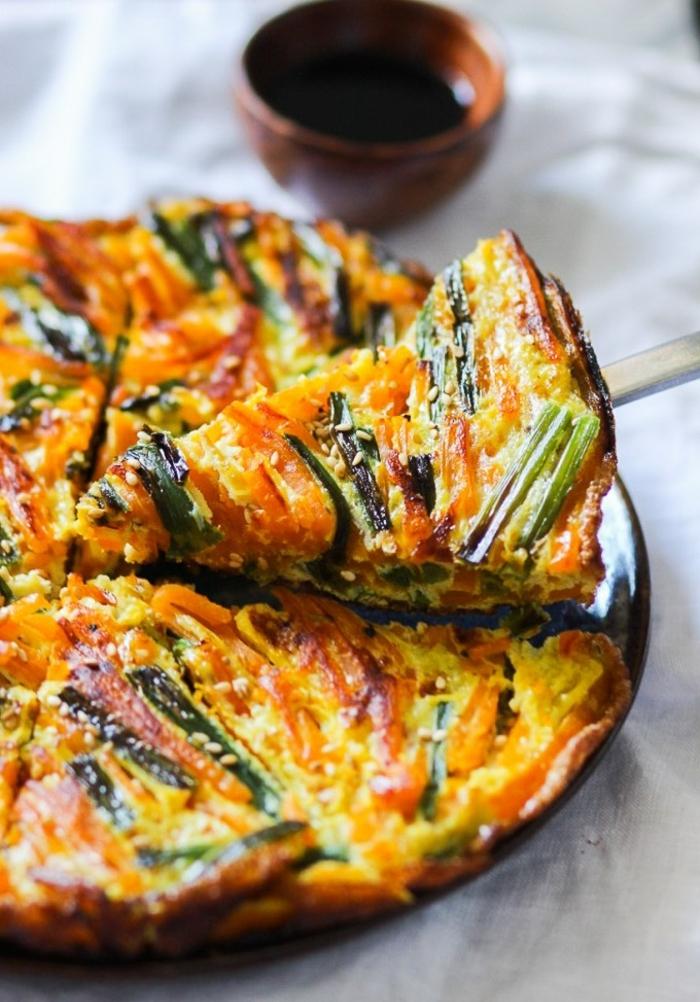 tarta de calabaza salada paso a paso, tortilla con calabaza y cebolla, ricas ideas de comidas y postres