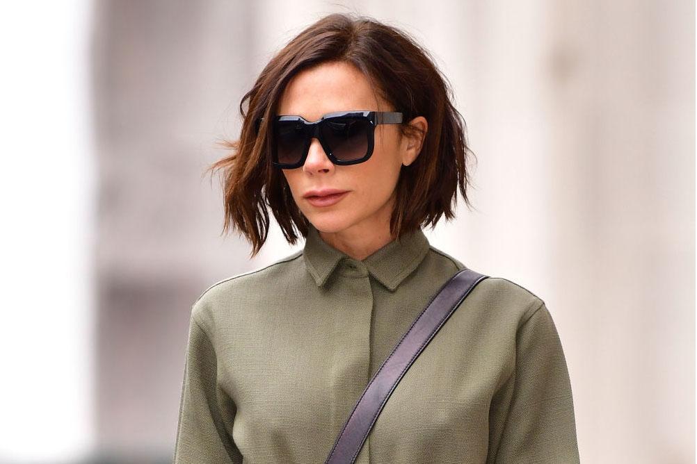 Victoria Beckham con un corte de pelo bob con degradado, cortes de pelo para cara alargada