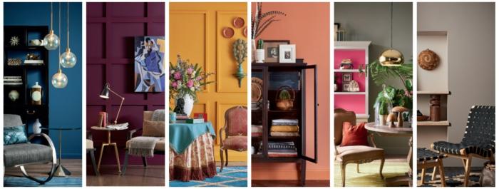 colores del año 2019, qué colores se llevan para pintar un salón, paredes pintadas en colores oscuros e intensos