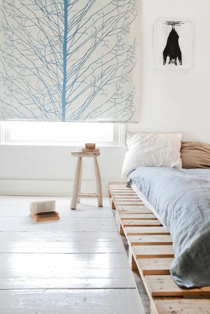 precioso diseños de dormitorios decorados en tonos pasteles, cortinas de diseño, ideas de camas con palets