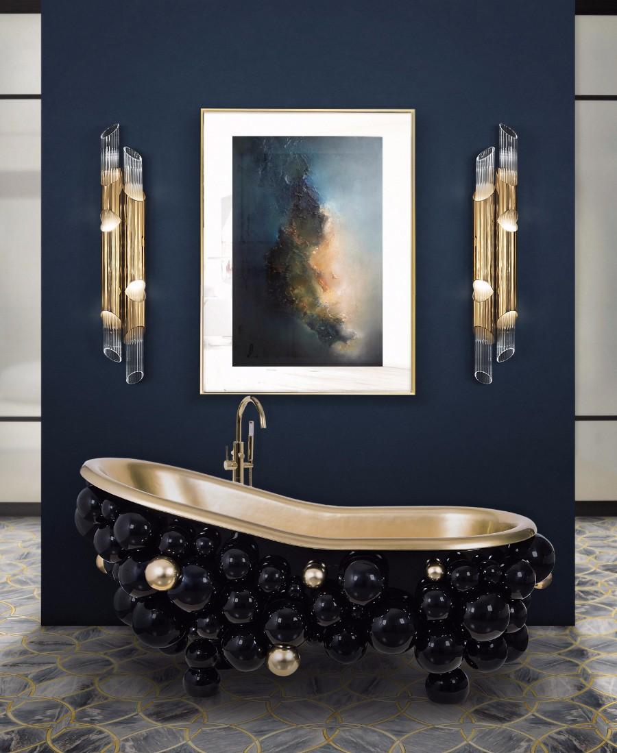 baños modernos decorados de lujo, cuartos de baño modernos inspirados en el estilo vintage