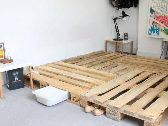 camas con palets hechas a mano paso a paso, habitaciones decoradas con muebles DIY