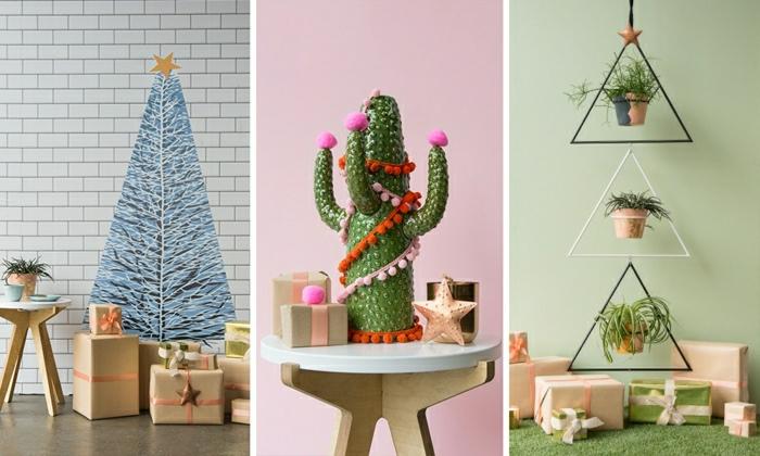 tres propuestas de arboles de navidad originales para decorar tu hogar, ingeniosas propuestas árboles navideños inuasuales