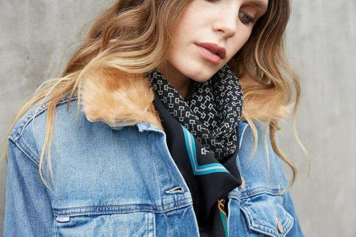 ideas sobre formas de ponerse un pañuelo, como atar un pañuelo, accesorios de moda mujer 2018