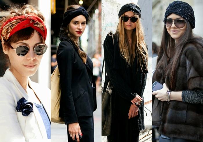 ideas originales de pañuelos en la cabeza, como ponerse una bandana en la cabeza, outfits modernos