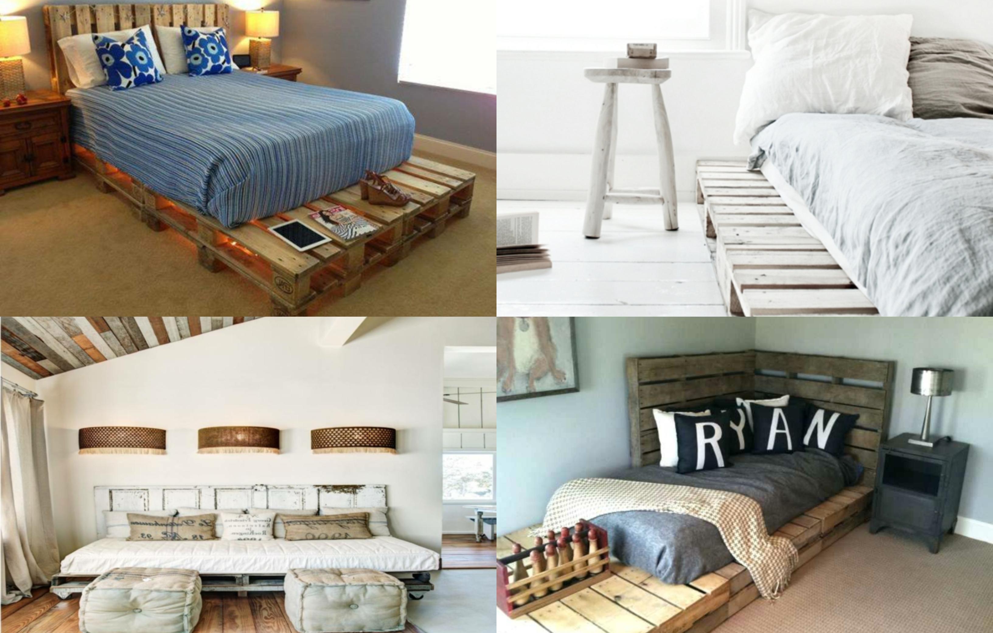 cuatro propuestas de decoracion con palets, dormitorios acogedores y modernos con camas con palets