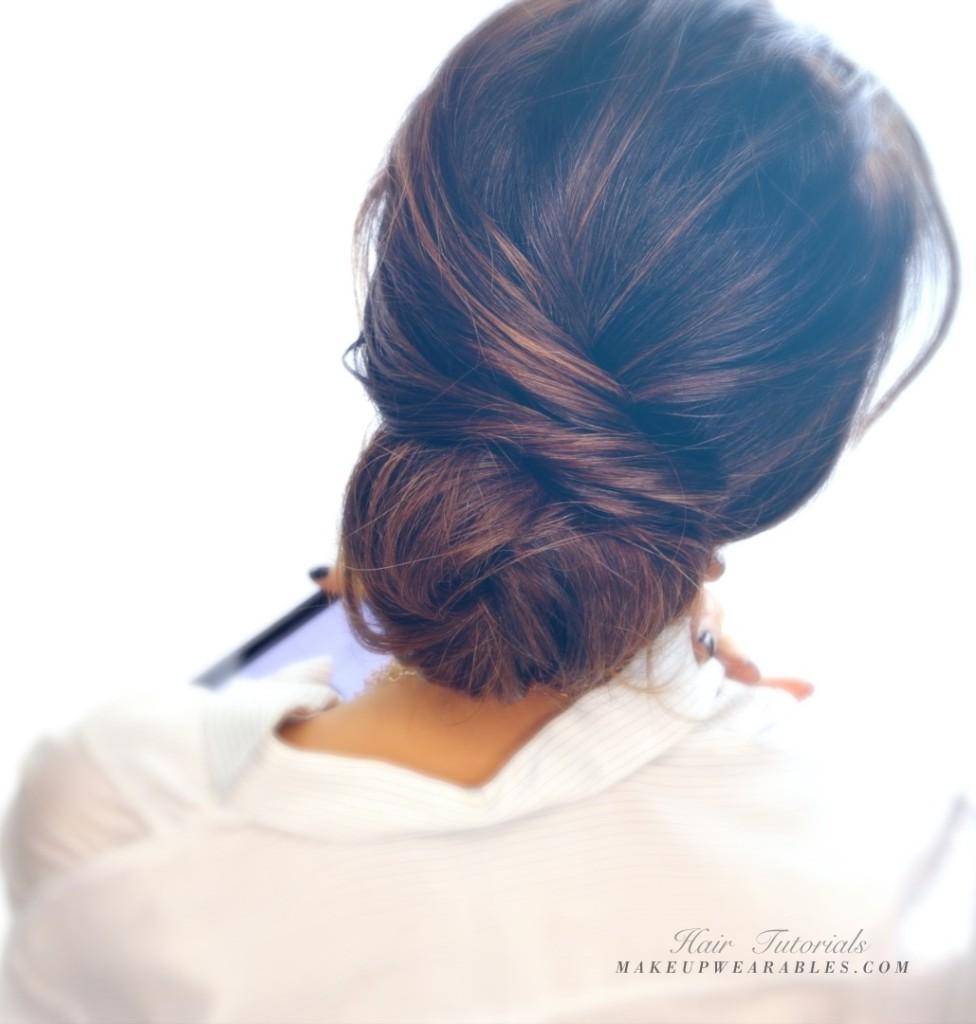 bonitos peinados para hacer en dos minutos, recogidos bonitos para hacer en casa, ideas para melena larga
