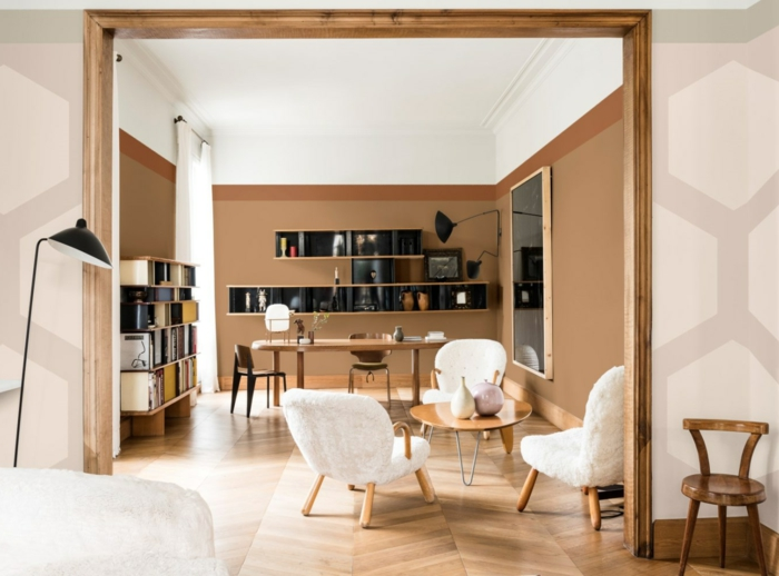 precioso diseño salón comedor decorado en dos colores, que colores se llevan para pintar un salon 2019