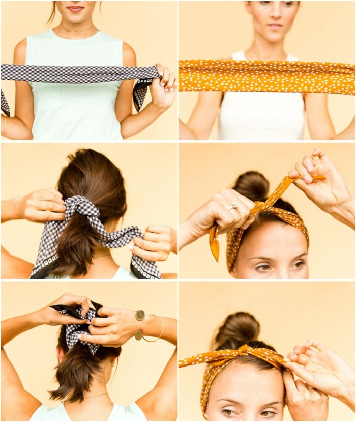 ideas sobre como usar pañuelos para la cabeza paso a paso, dos ideas super fáciles, fulares para la cabeza