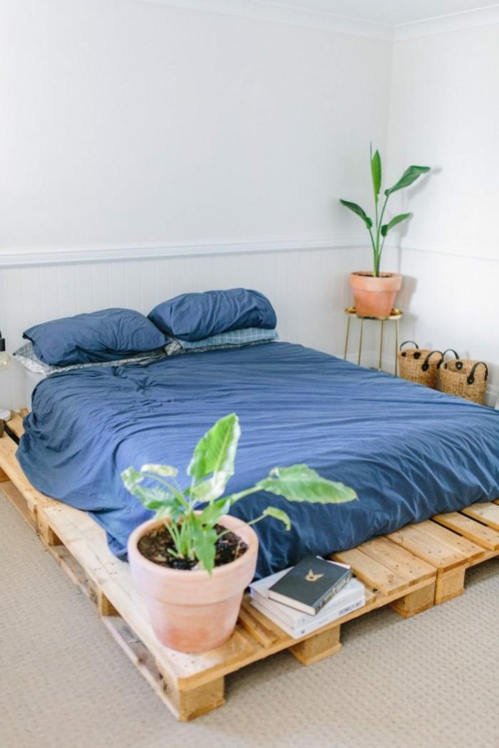camas con palets modernas, decoración de interiores en estilo moderno con muebles de materiales reciclados
