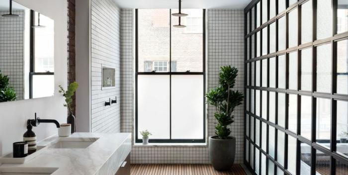 diseños de cuartos de baño modernos que inspiran, decoracion baños pequeños en estilo nórdico en imágines