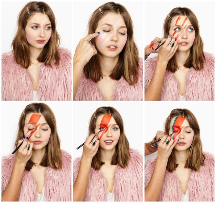 maquillaje sencillo para Halloween, disfraces de carnaval caseros paso a paso, ingeniosas ideas para pequeños y adultos