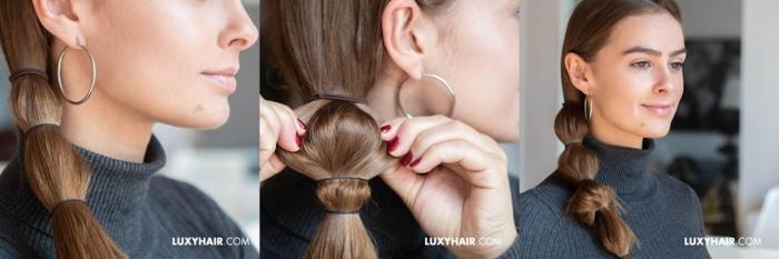 como hacer una coleta burbuja lateral paso a paso, peinados recogidos faciles con mucho encanto