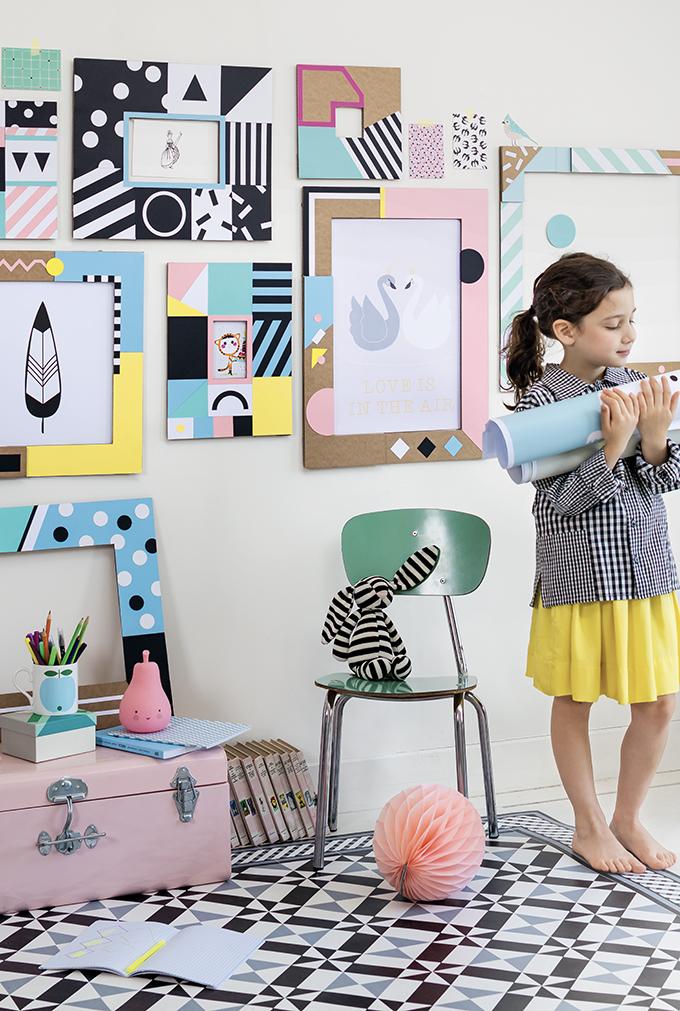 manualidades con hueveras y cajas de cartón para decorar el hogar, cuadros decorativos DIY en colores pastel