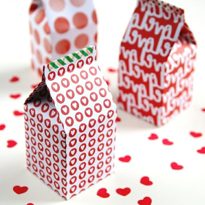 cajas de cartón personalizadas para el día de San Valentín, ideas sobre cómo hacer una caja de cartón DIY