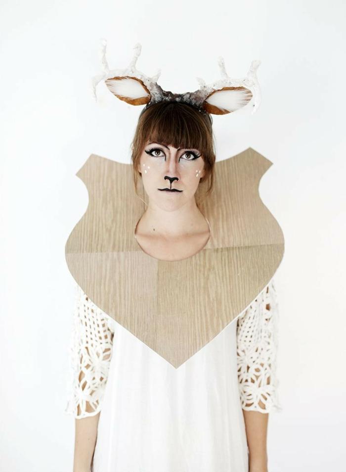disfrace de ciervo DIY para hacer en casa, disfraces de carnaval caseros, como disfrazarse de ciervo