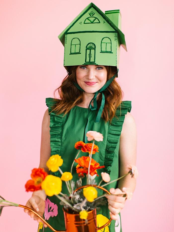 disfraces de halloween caseros, ideas originales y fáciles de hacer paso a paso, flores artificiales