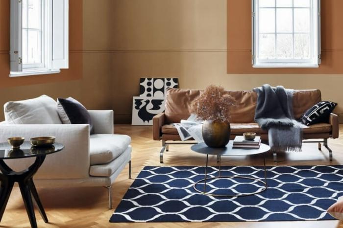 ideas sobre como pintar una habitacion de dos colores que están en tendencia, paredes en beige, detalles color terracota