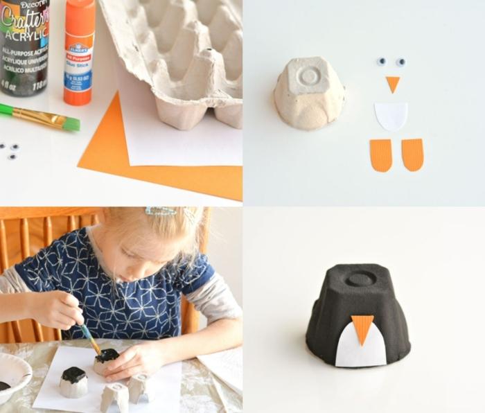 ideas sobre cómo reutilizar los materiales de cartón que tenemos en casa, manualidades con rollos de papel higienico y hueveras