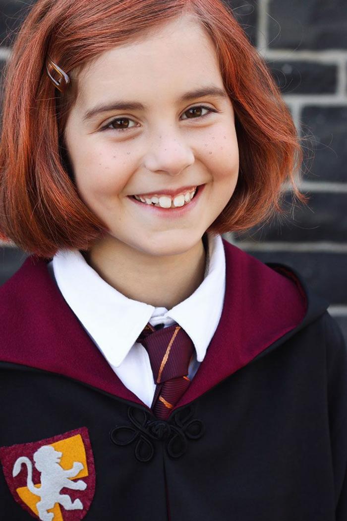 disfrace casero Ginny Weasley disfraces halloween originales, ideas de disfraces inspirados en Harry Potter
