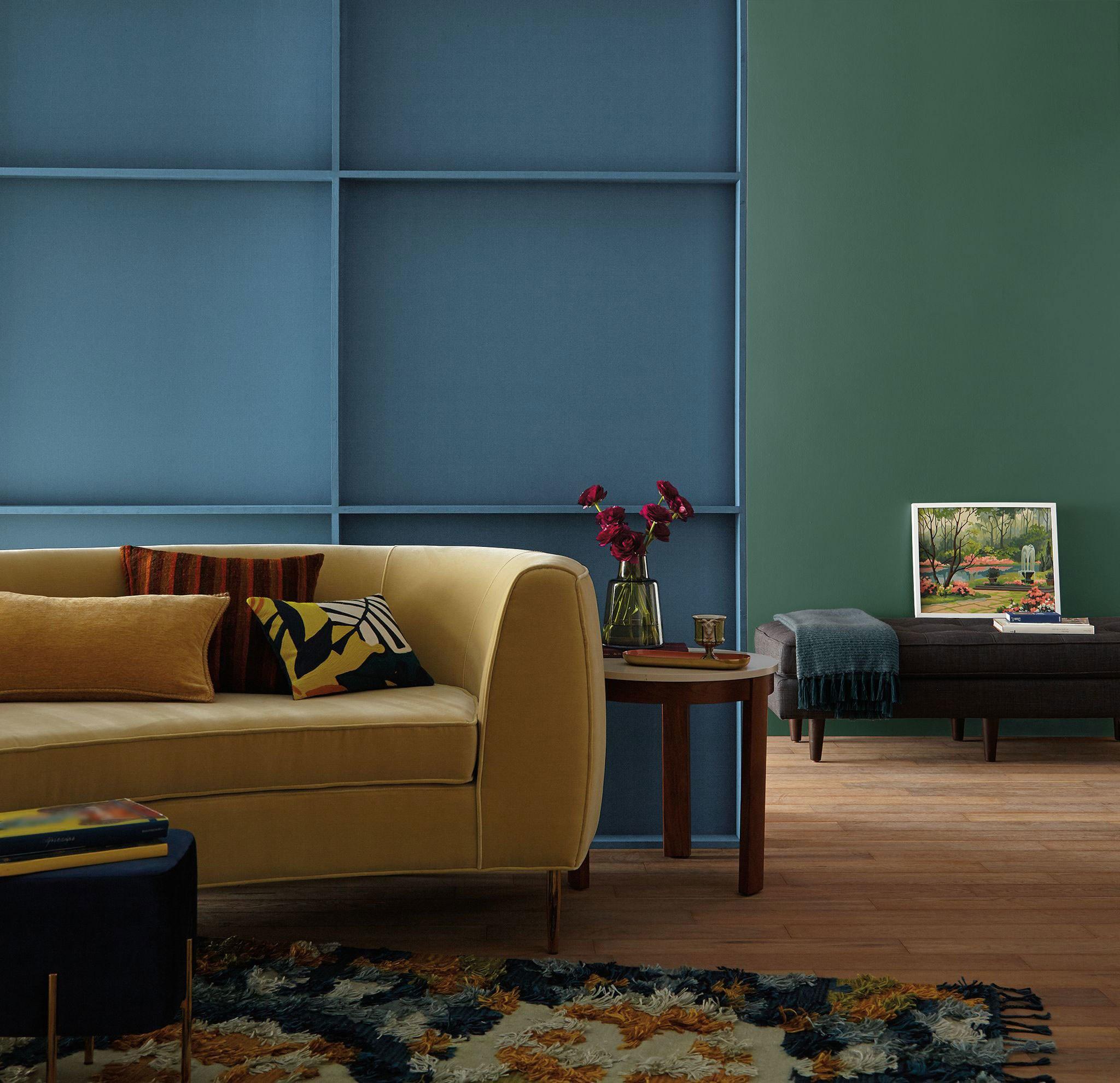 combinaciones de colores 2019 para pintar un salón, qué colores se llevan para pintar un salón