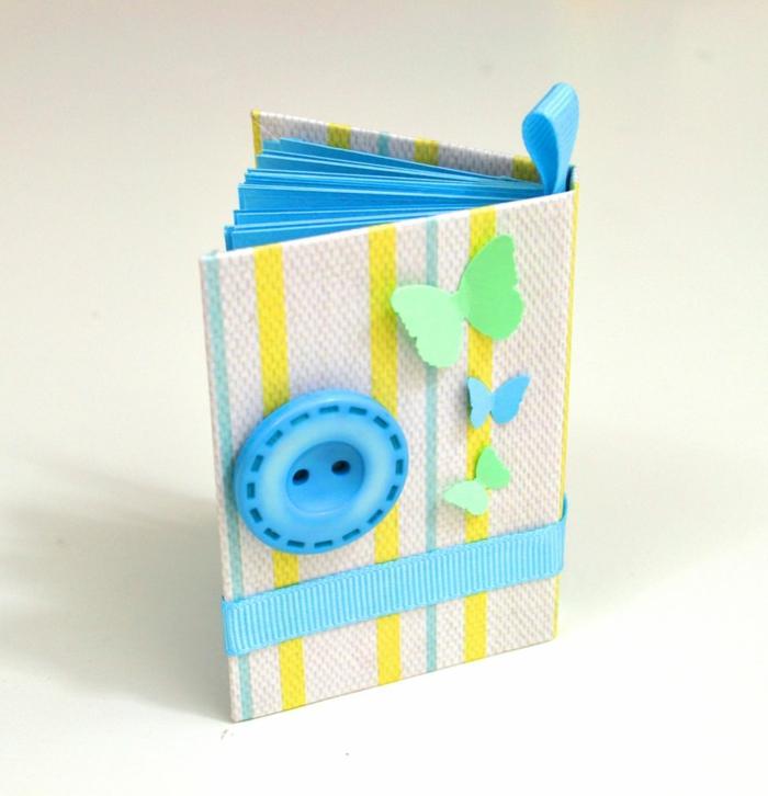 cuaderno DIY de cartón, preciosas ideas de manualidades con cartulina, pequeños detalles para regalar