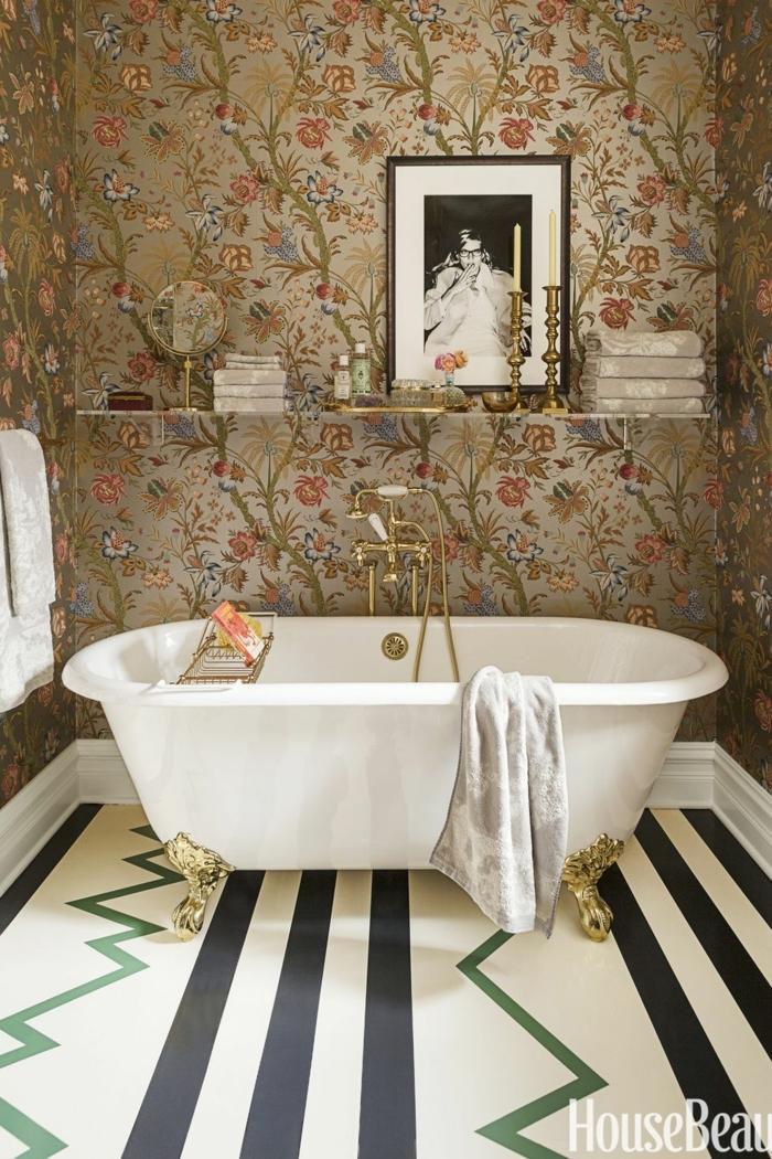 precioso ejemplos de baños modernos decorados con muebles y detalles decorativos en estilo vintage