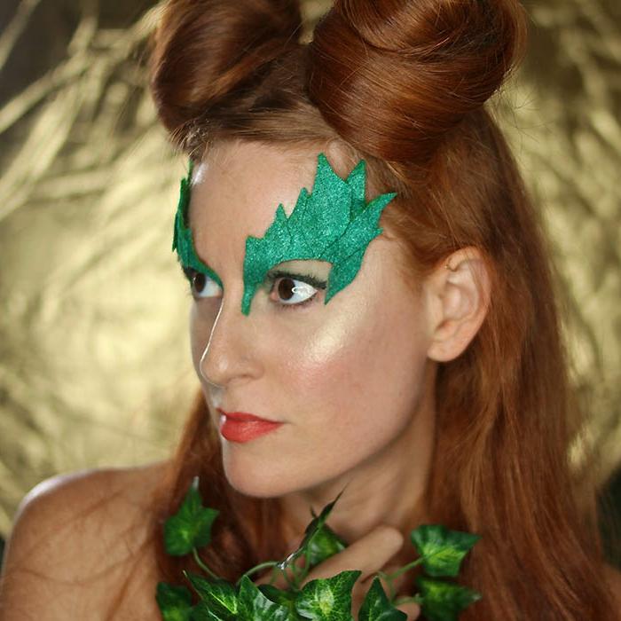 disfraces caseros carnava, ideas originales de maquillaje de Halloween, decoración con fieltro paso a paso