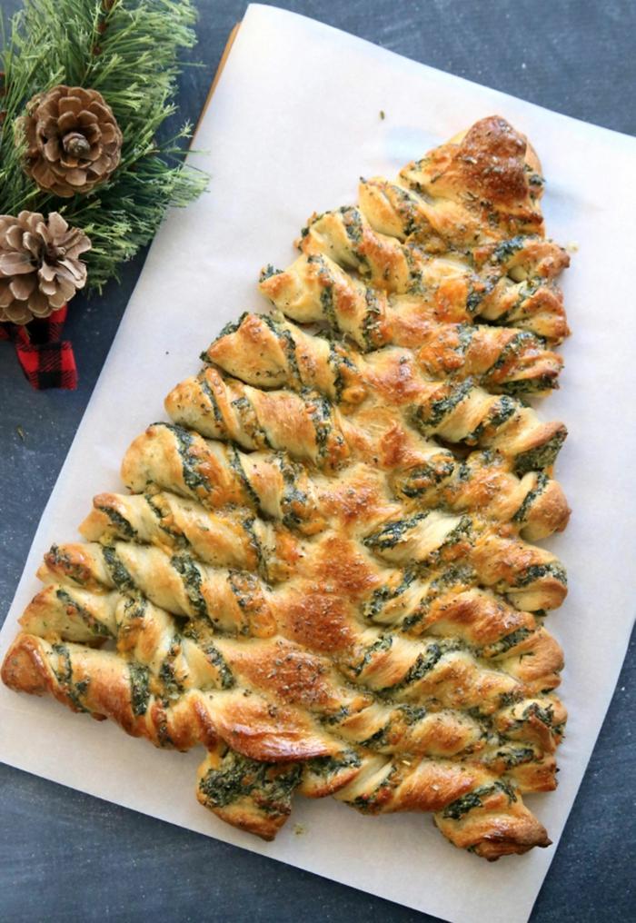 como hacer una empanada con espinacas y queso, entrantes ricos decorados de manera original
