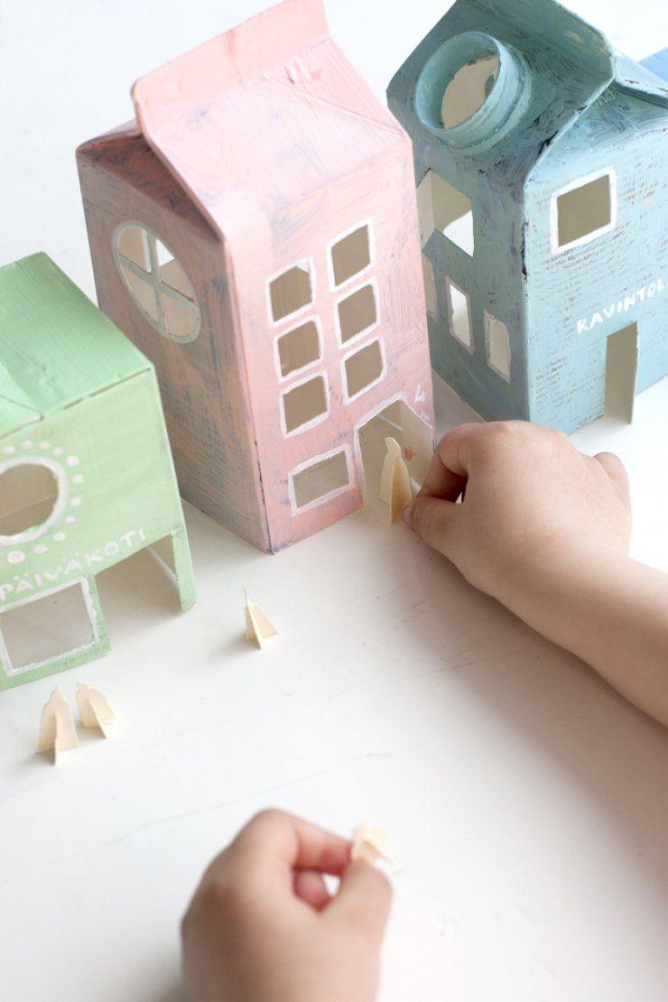 bonitas propuestas de manualidades con reciclaje, como decorar una caja de cartón paso a paso