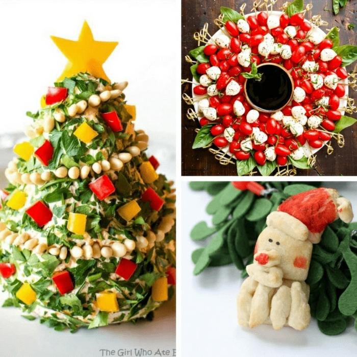 tres propuestas de recetas navideñas faciles decoradas de manera encantadora, entrantes navideños
