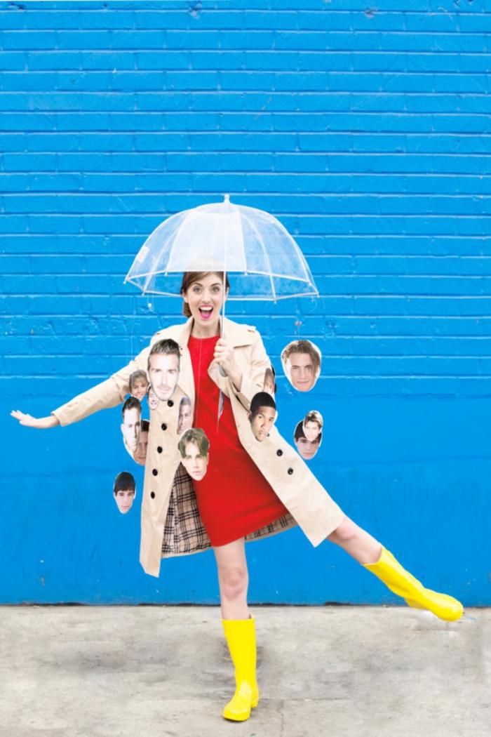 disfrace casero ¨está llueviendo hombres, ideas de disfraces faciles y rapidos para hacer en casa