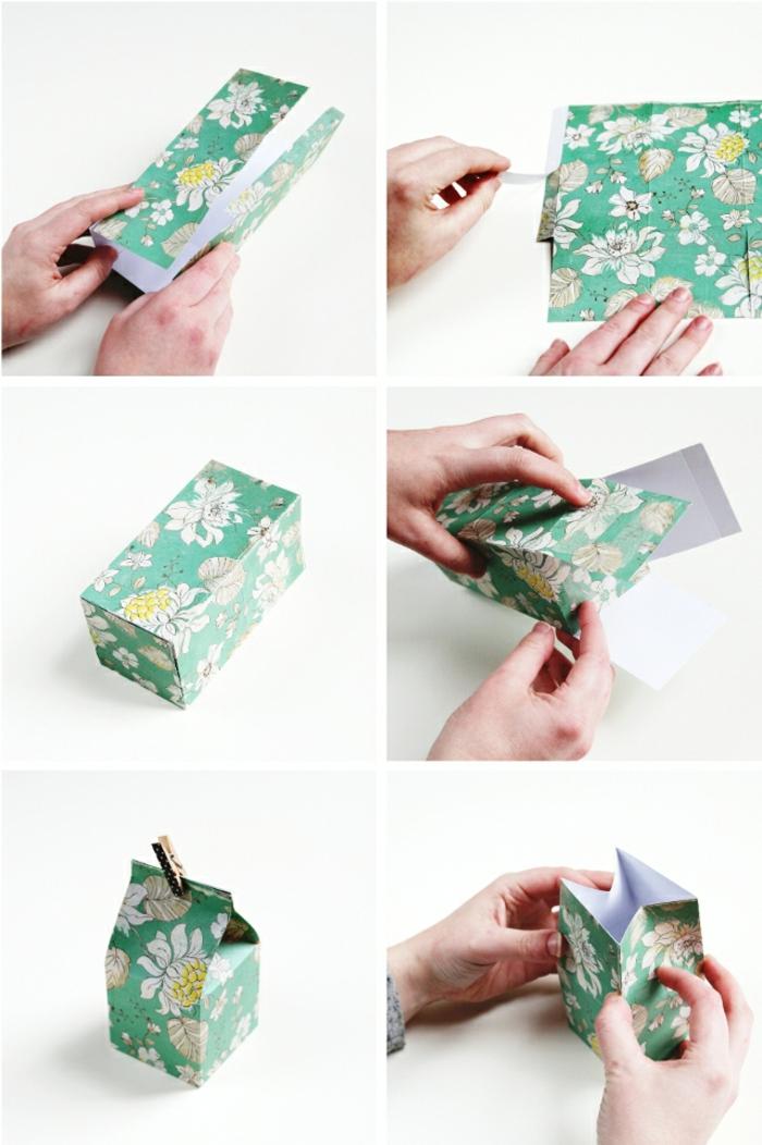 pasos para hacer una caja de cartón decorativa, manualidades con cartulina paso a paso, bonitas ideas