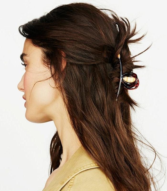 semirecogidos fáciles y rápidas de último momento, ideas de peinados para conseguir un chic urbano