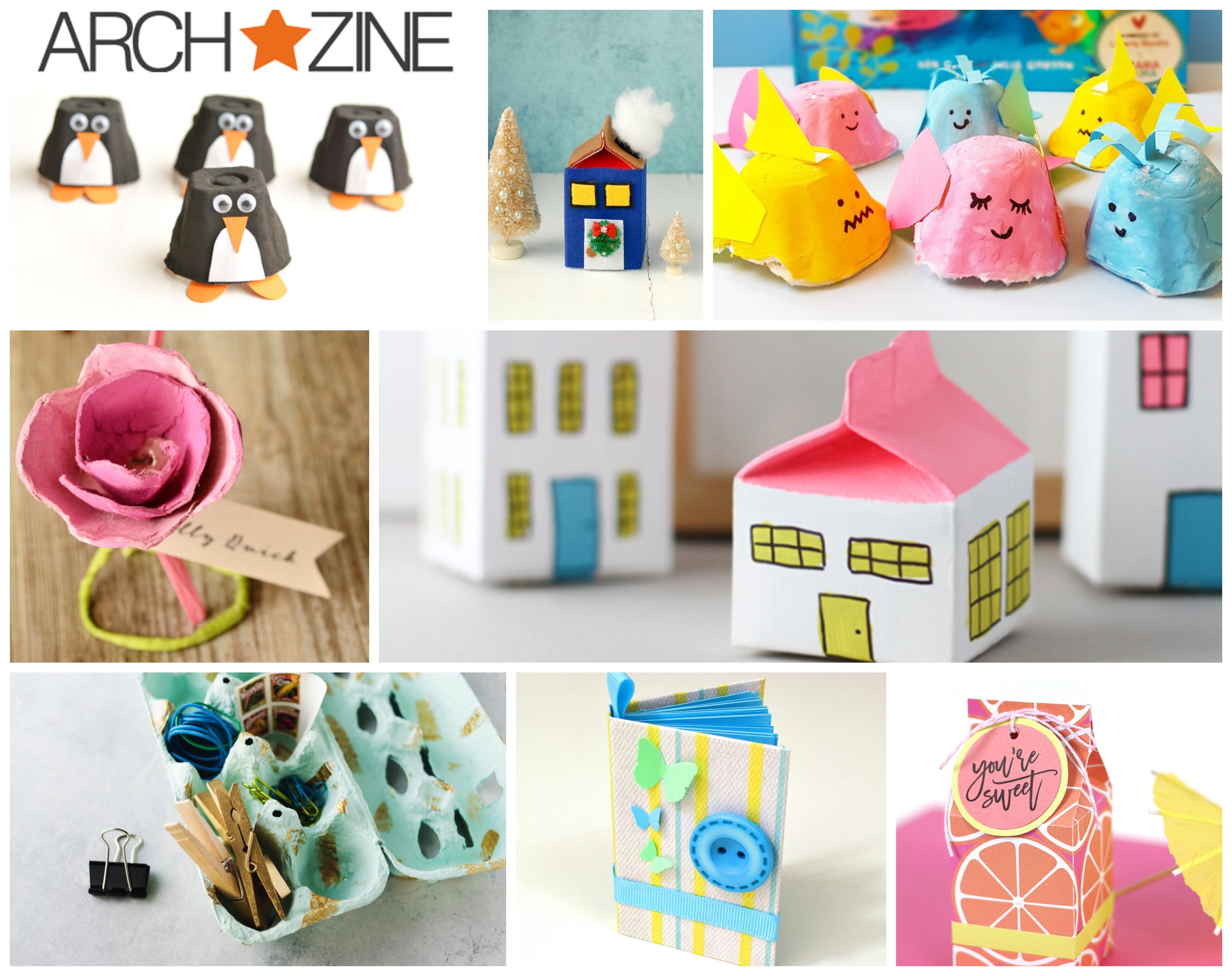 bonitas ideas de manualidades con carton, ideas diversas y super originales para reutilizar los desusos de cartón que tenemos en casa