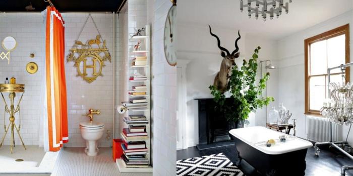 decoracion baños pequeños en estilo eclécticos, cuartos de baño modernos decorados de diseño, mezcla de estilos decorativos