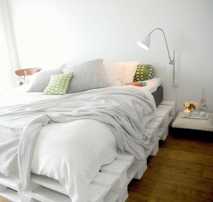 bonitas imágenes de camas DIY con palets, ideas sobre como hacer una cama con palets en casa