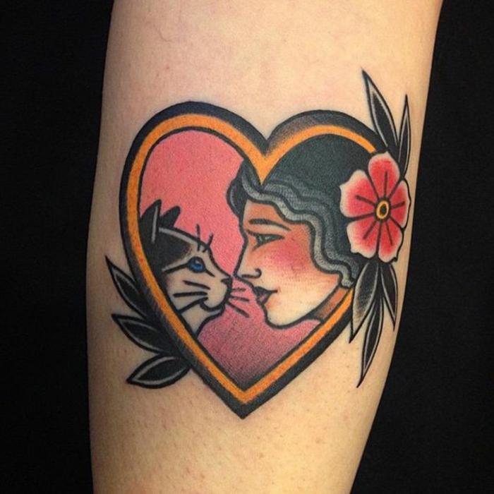 tatuajes de la vieja escuela, elementos básicos , tattoos tradicionales americanos, tatuaje corazón
