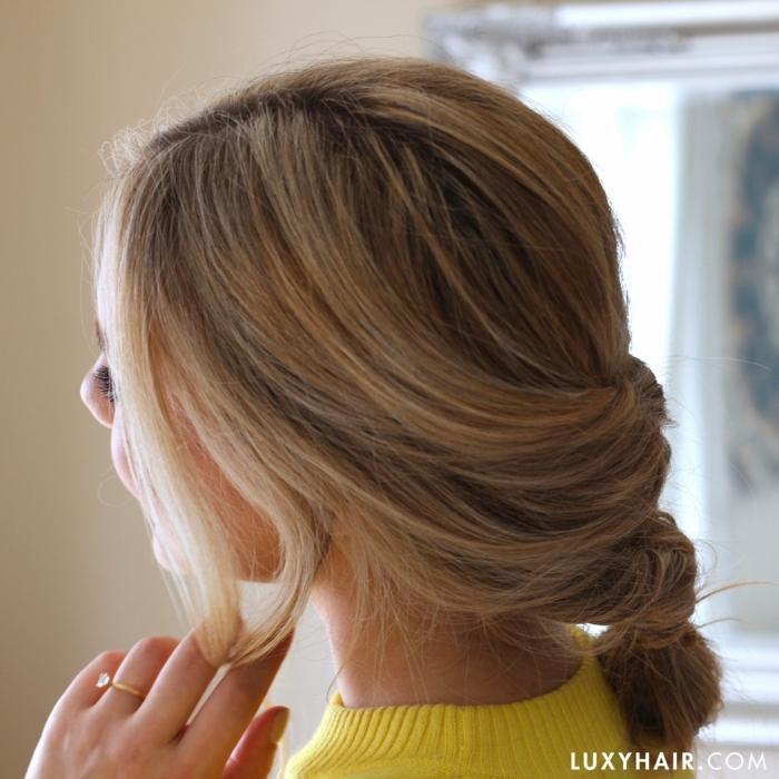 precioso recogido con trenza, ideas de peinados super fáciles de hacer para toda ocasión