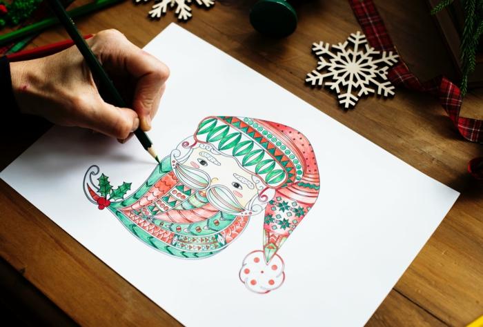bonitos dibujos navideños para colorear, ideas de actividades infantiles para tus niños en Navidad