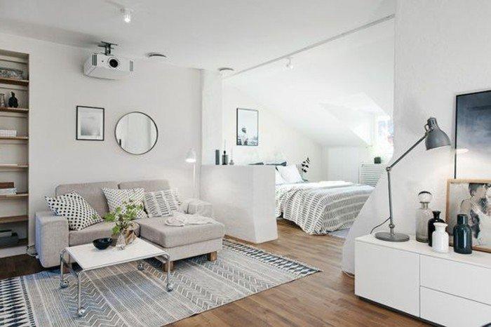 ideas de decoracion de espacios abiertos, como añadir espacio visualmente a una habitacion